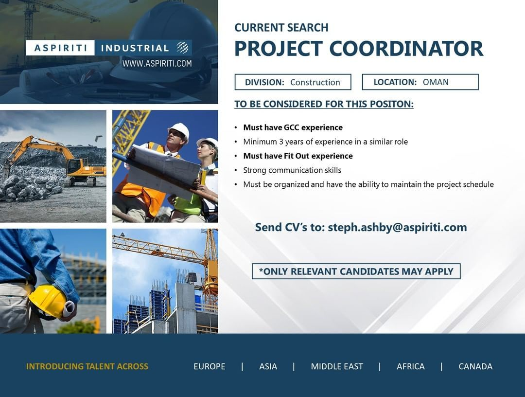 We are looking for a responsible project coordinator to
