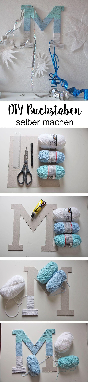 Auf der Suche nach einer tollen DIY Deko Idee Wir zeigen euch wie ihr sen DIY Buchstaben selber machen könnt Diy Baby Crafts