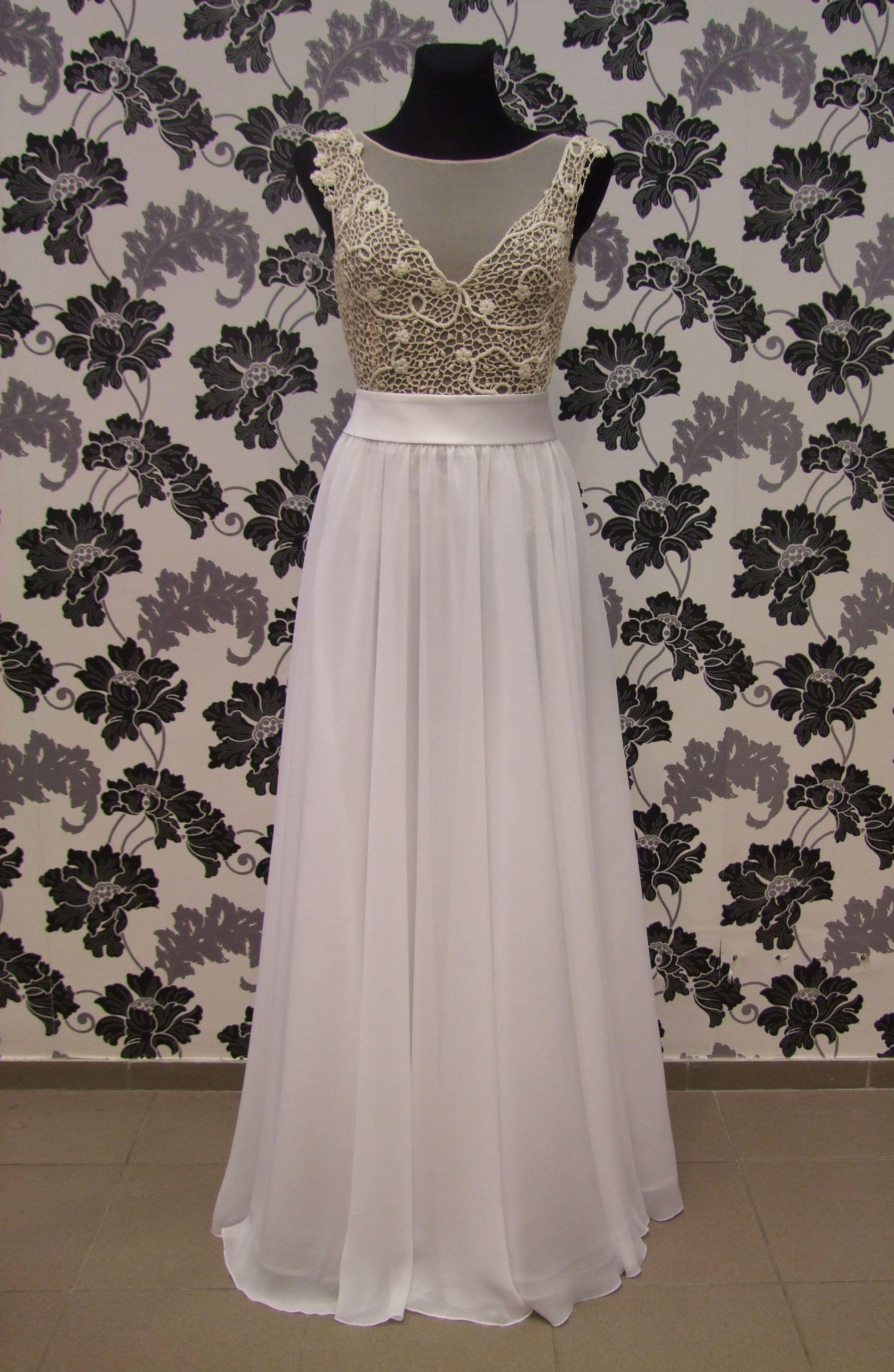 Unique irish crochet wedding dress Crochet wedding