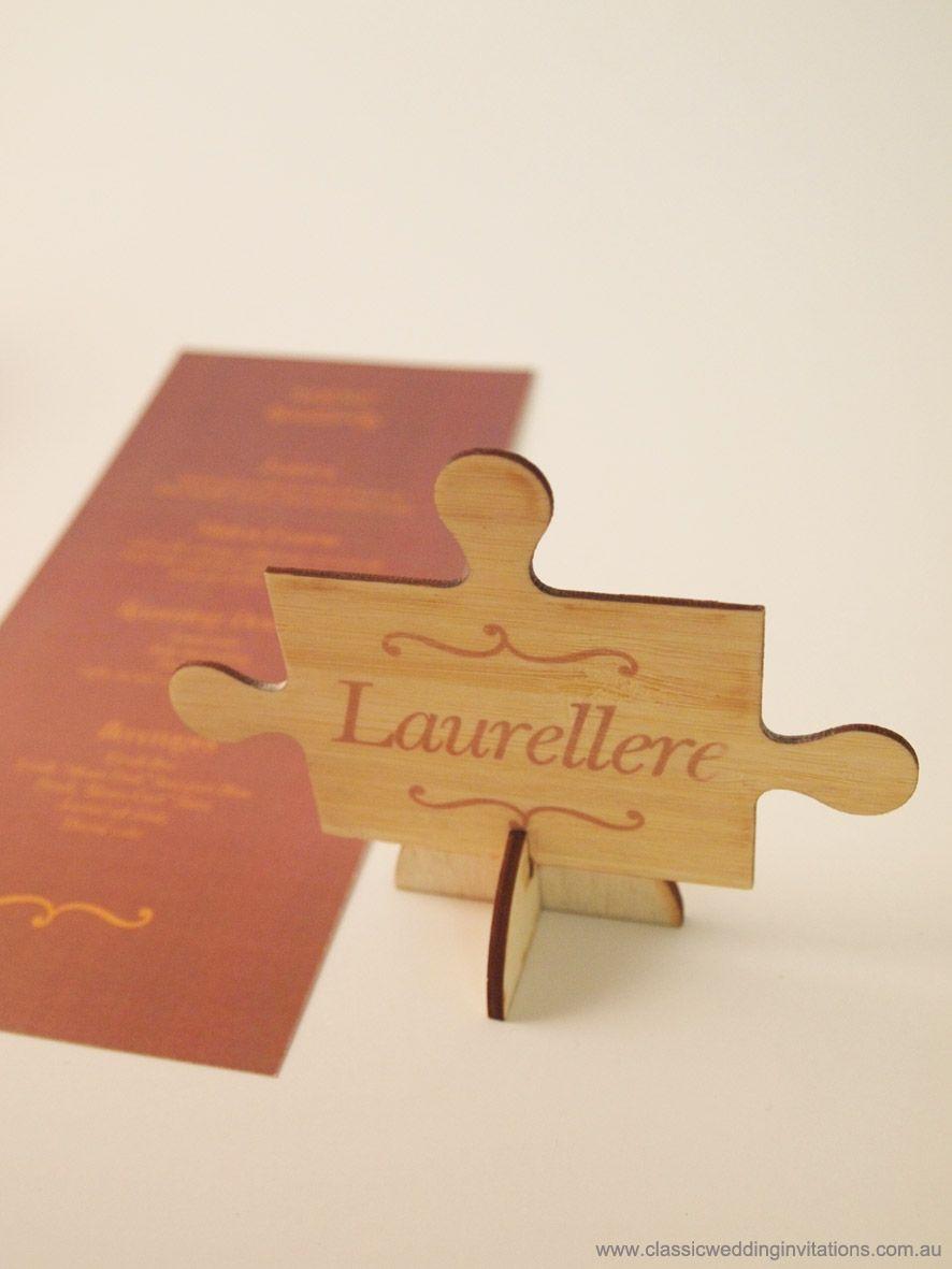 Puzzle piece placecards