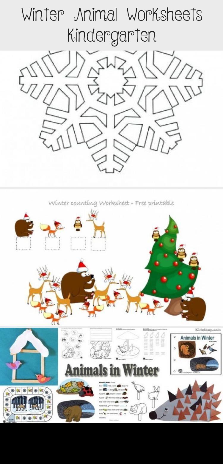 Winter Animal Worksheets Kindergarten