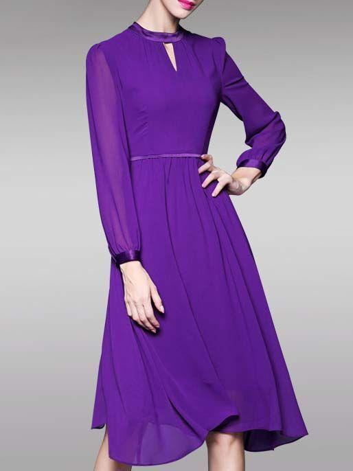 https://www.stylewe.com/product/elegant-cutout-chiffon-midi-dress-5457.html