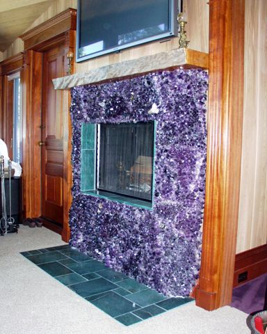 amethyst fireplace  nuts  GemStones in 2019  Sacred