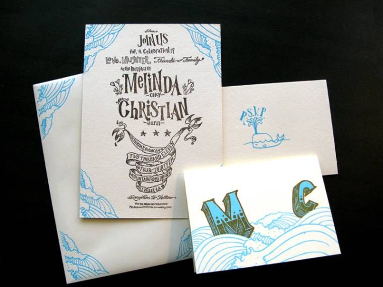 screen printmaking wedding invitations - Google Search