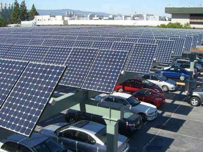 Parking Ares With Solar Panels To Charge Electric Cars Germany Rumah Lampu