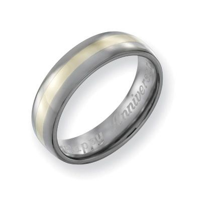 Zales Mens 6.0mm Engraved Titanium Wedding Band (27 Characters) APzHXt