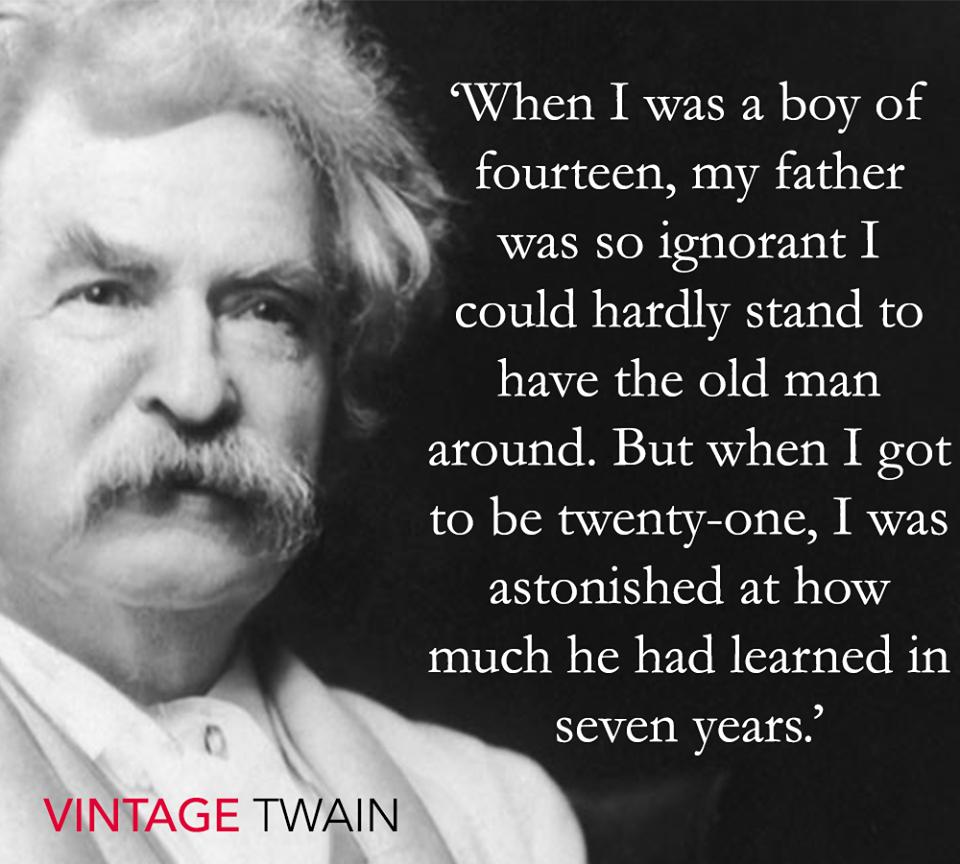 mark twain quote Mark Twain Mark twain quotes, Father
