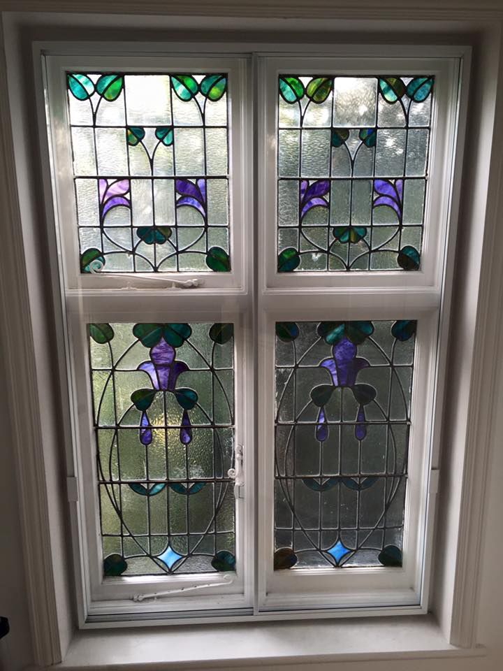 Violet window. Purple glass is rarely used, so a wonderful project ...