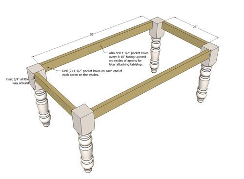 Beautiful attaching Table Legs