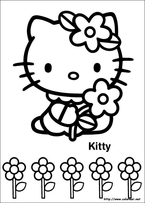 Hello Kitty | coloriages pour enfants | Pinterest | Paños, Fieltro y ...