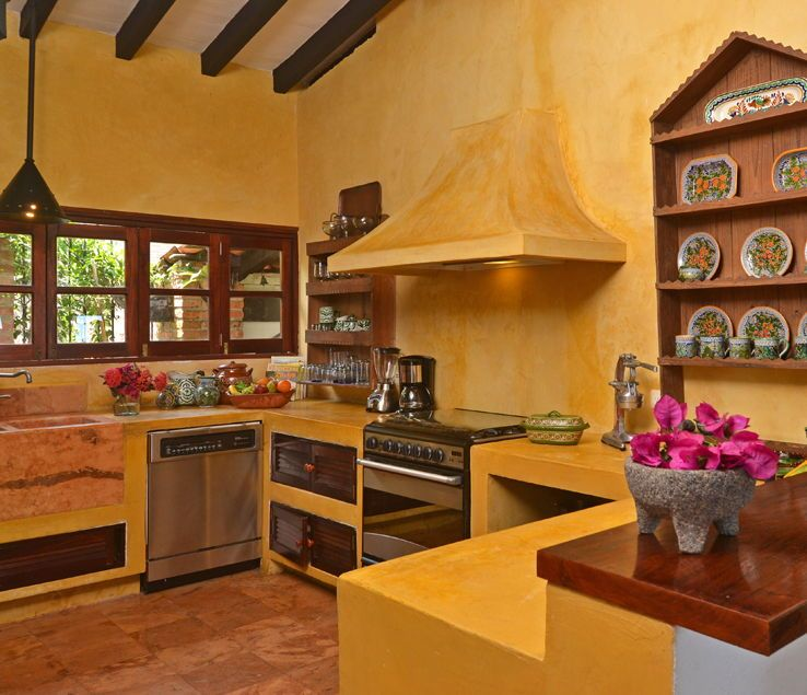 Best Bright Yellow Mexican Kitchen Mexican Style Kitchens 400 x 300