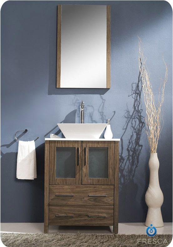24 Bathroom Vanity With Vessel Sink - 32