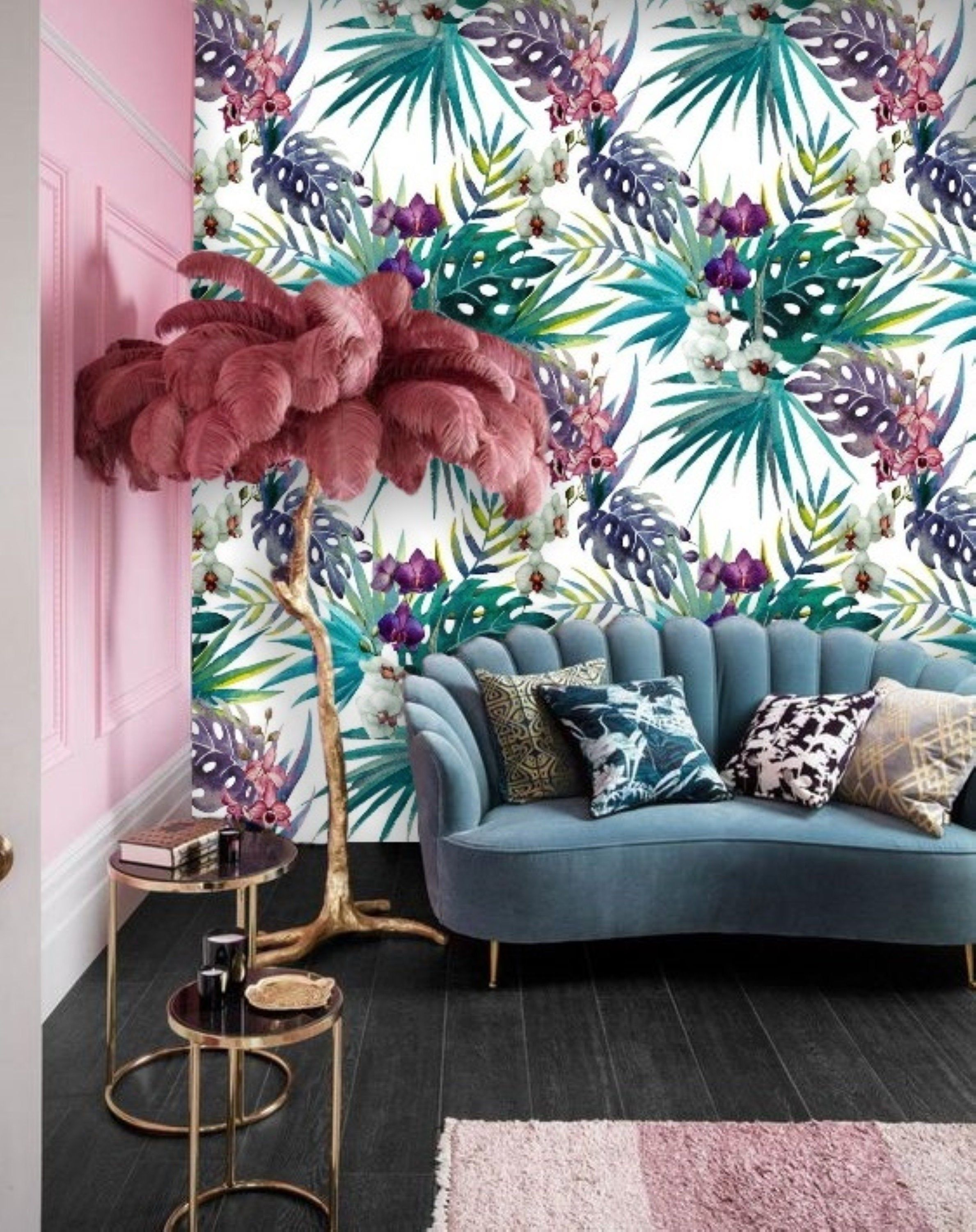 Peel Stick Removable Wallpaper Mural Remove Tropical Leaf Wallpaper Colorful Self Adhesive Wallpaper Orchid Floral Wall Paper Jungle 60 In 2020 Mural Wallpaper Leaf Wallpaper Removable Wallpaper