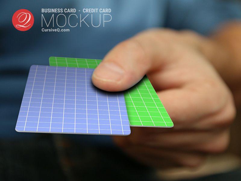 Free Business Card / Credit Card / Gift Card Hand Mockup | Mockup ...
