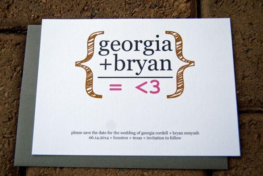 wedding invitation date wording etiquette%0A    Wonderfully Geeky Wedding Invitations