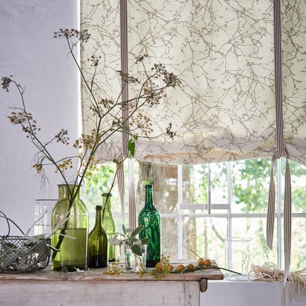 raffrollo mit schlaufe selber n hen eine anleitung sewing room pinterest. Black Bedroom Furniture Sets. Home Design Ideas