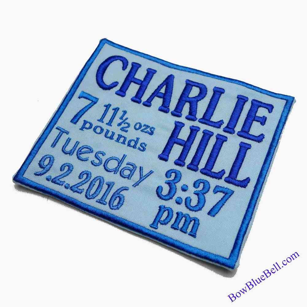 Personalised Birth Word Art, Custom Made Machine Embroidery,quilt, Labels ,patchwork,