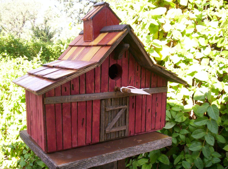 Swell Old Stained Cedar Barn Bird House 3935 By Shelbysearthcrafts Interior Design Ideas Philsoteloinfo