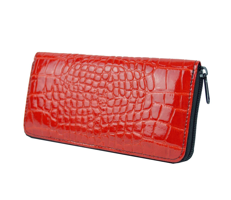 592fb70eee Originálna kožená peňaženka č.86063 so vzorom hadiny v červenej farbe (3)