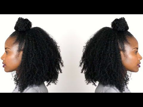 5 Versatile Ways To Style A Top Knot On Natural Hair Bglh Marketplace Half Up Hair Natural Hair Styles Curly Hair Styles Naturally