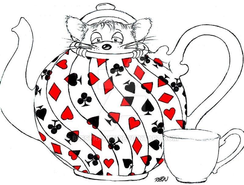 Dormouse In A Teapot By Blestrange On Deviantart Teapot Drawing