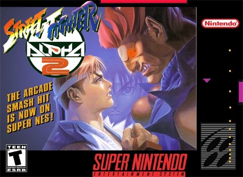 Street Fighter Alpha 2 Snes Super Nintendo Street Fighter Alpha