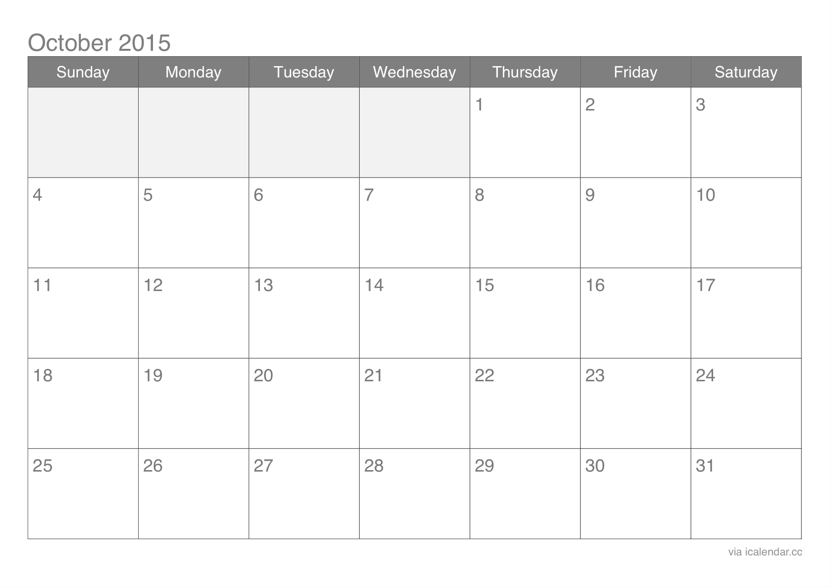 October 2015 Calendar Word - In this Post we\'re sharing latest ...