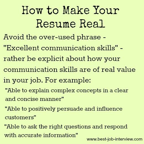 How to Make your Resume Real Job Search, Job Interviews, Careers - key words for resume
