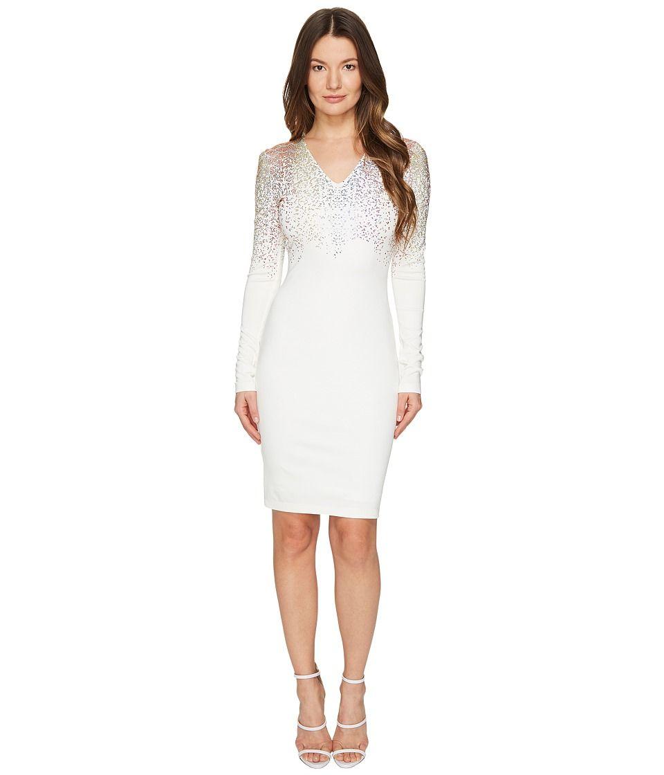 Just cavalli just cavalli long sleeve fitted short dress