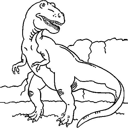 R sultat de recherche d 39 images pour coloriage dinosaure - Coloriage dinosaure tyrannosaure ...