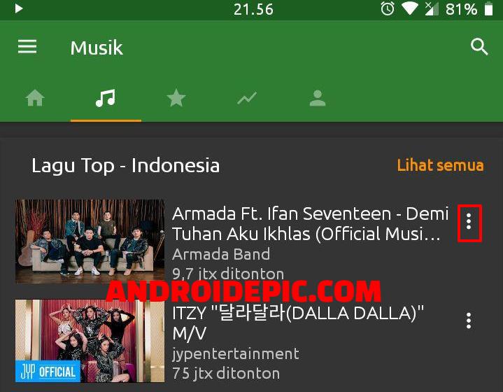 Aplikasi Pemutar Musik Youtube Tanpa Video Bisa Langsung Download Mp3 Dari Youtube Musik Youtube Aplikasi
