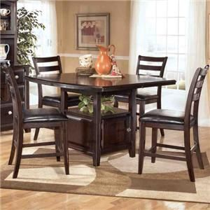 Ridgley 5 Piece Counter Height Table And Barstools Set By Signature Design Ashley