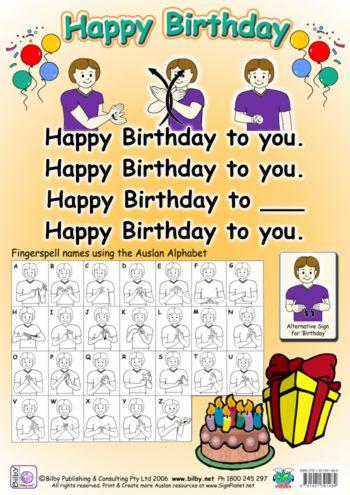 Happy Birthday Signing Sign Language Baby Sign Language Sign