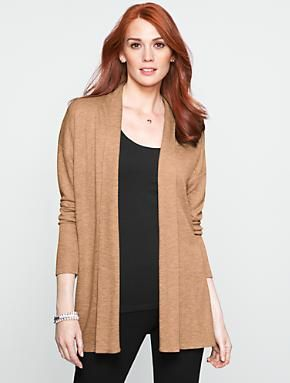 Talbots - Double-Knit Flyaway Cardigan | Sweaters | Misses | hair ...