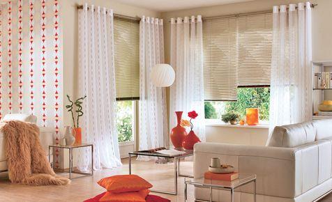 Blendschutz am Fenster   Moderne wohnzimmer vorhänge ...