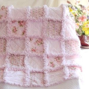Baby Rag Quilt Pink Rose