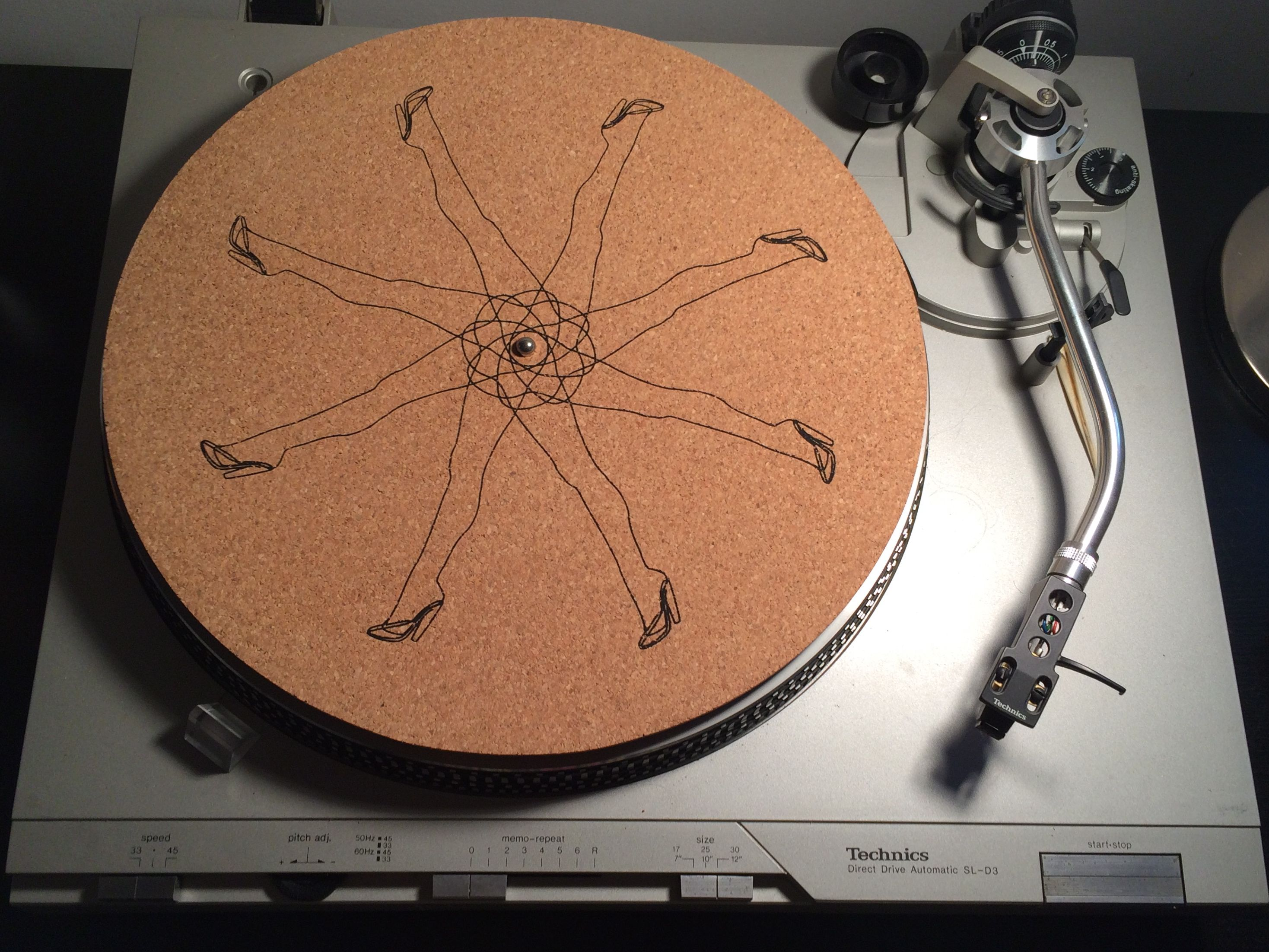 Handcrafted Natural Cork Turntable Mat Wood Is Good Pinterest Wiring Diagram Slip Hand Sanded Ultra Smooth Organic Mats Grip Vinyl In Style Record Player Accessories