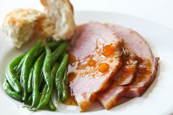 Gojee - Easter Ham with Mango Ginger Glaze by Steamy Kitchen