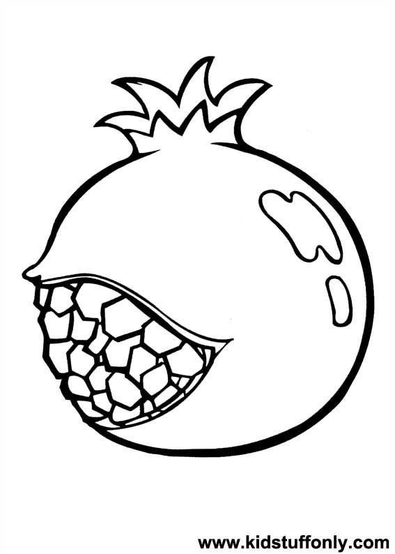 pomegranate images coloring pages for kids | το ροδι ζωγραφια - Αναζήτηση Google | Πασχαλινές ...