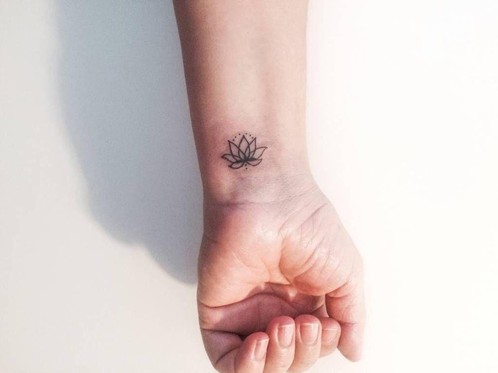 Elegant Lotus Tattoo On Wrist Flower Wrist Tattoos Small Tattoos Wrist Tattoos For Women