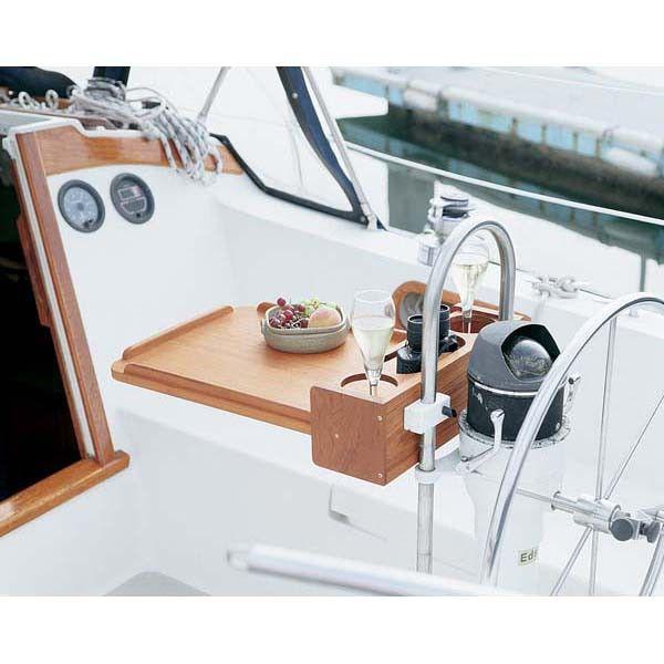 Whitecap Teak Drink Holder With Removable Cockpit Table