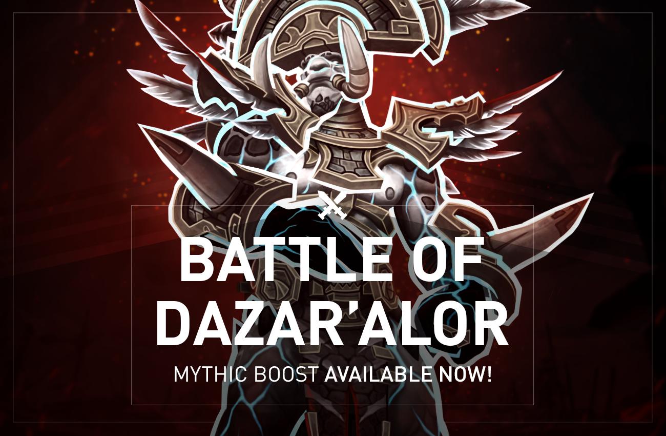 Battle of Dazar'alor Mythic raid is cross realm now! Get the