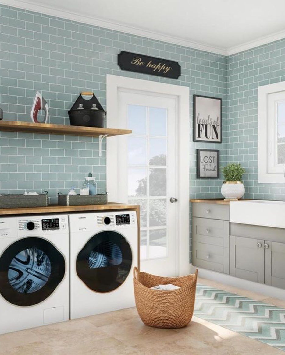 50 Clever Laundry Room Ideas That Are Practical And Space Blue Rooms Renovation Small