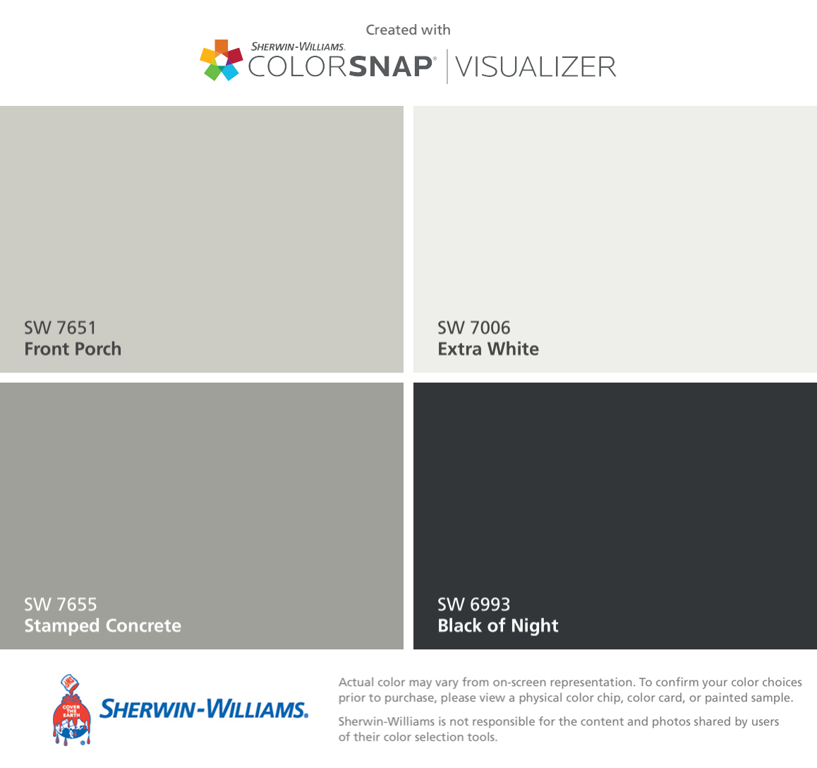 I Found These Colors With ColorSnap® Visualizer For IPhone By Sherwin  Williams: Front. Exterior Paint ...