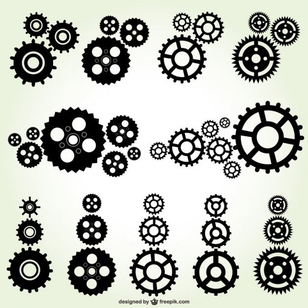 Vector gears free download | Vector | Pinterest | Graphics, Search ...