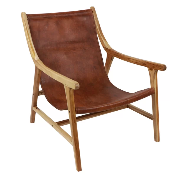 Mancheer Armchair Leather Sling Chair Leather Side Chair Sling Chair