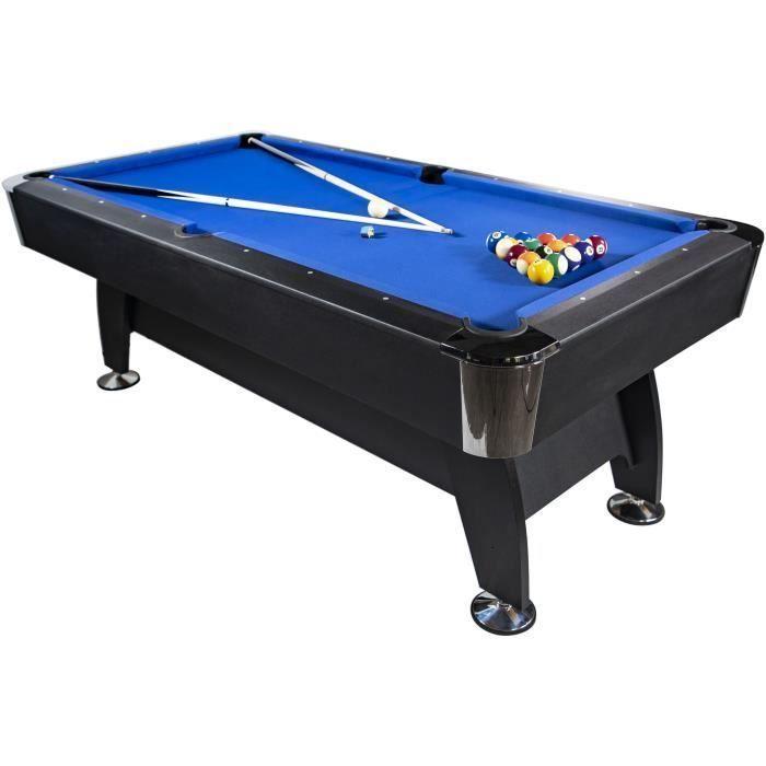 Montgomery Billard Americain 210cm Noir Tapis Bleu Montgomery Billard Americain 210cm In 2020 Billiard Table Billiards Decor