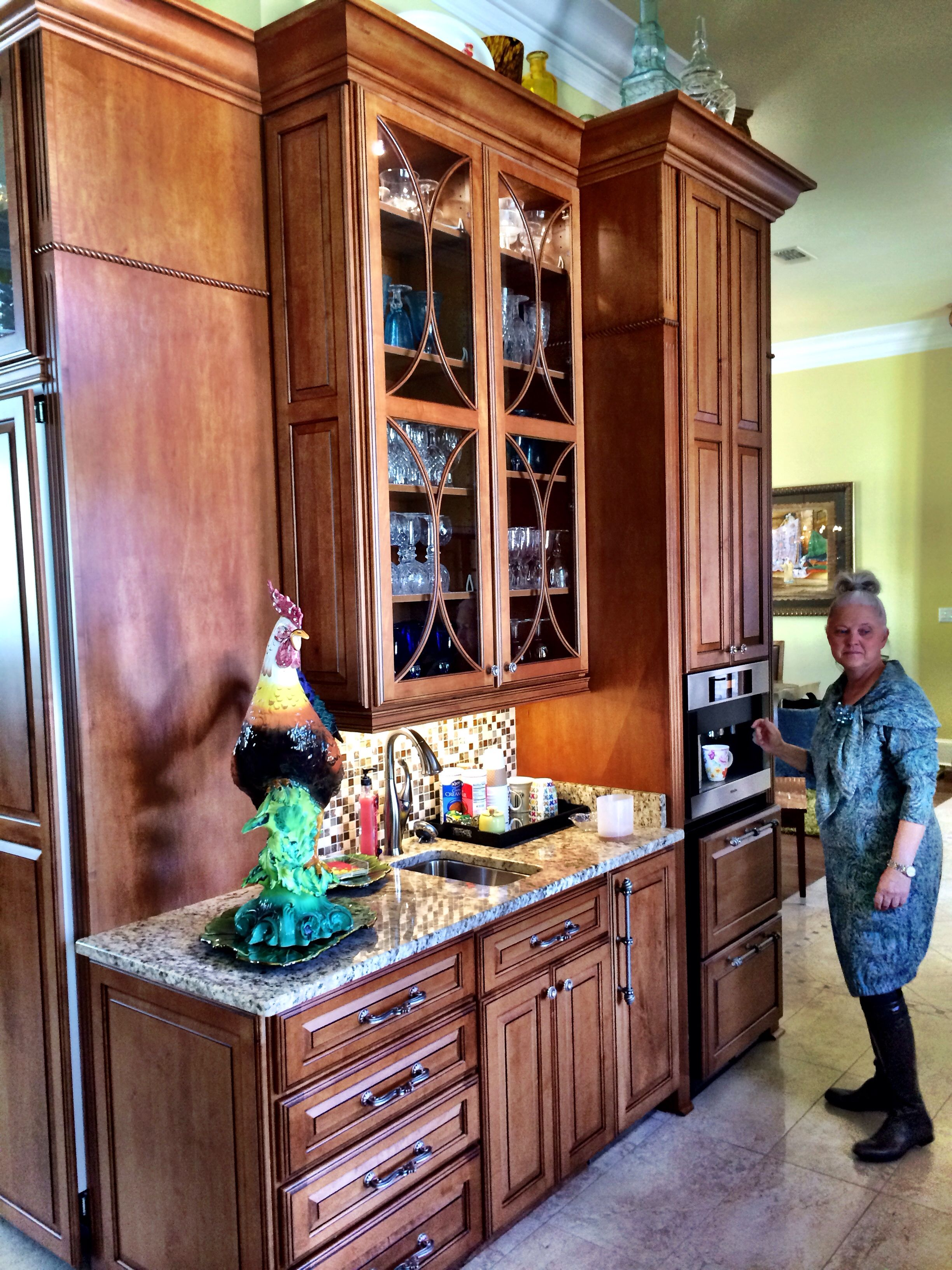 Coffee Center And Built In Ice Maker Schuler Cabinetry Design By Scott Herrin Lowe 39 S Kitchen