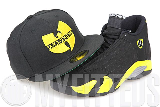 sports shoes bbf37 e13a5 Wu-Tang Clan Jet Black Moonbeam Clasic Green Undervisor Custom New Era  Fitted Cap - At myfitteds.com