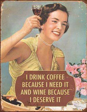 I drink coffee because....